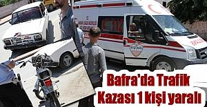 Bafra'da meydana gelen trafik kazasında bir kişi yaralandı.