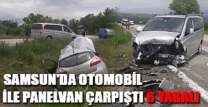 Samsun'da otomobil ile panelvan çarpıştı: 6 yaralı