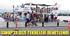 Sinop'ta Gezi Tekneleri Denetlendi