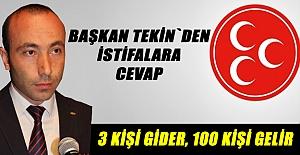 MHP Samsun İl Başkanı Tekin`den Açıklama