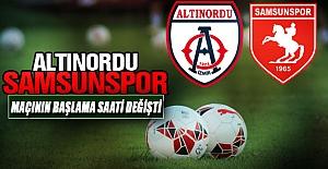 Samsunspor-Altınordu maçının başlama saati değişti