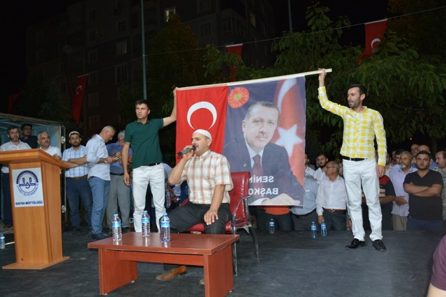 BAFRA 7. GECEDE 7`DEN 70 DEMOKRASİ NÖBETİNDE..