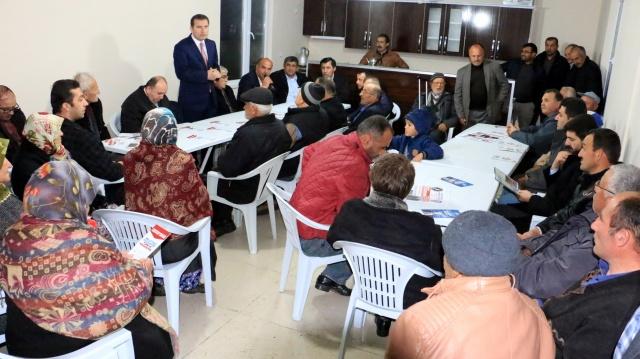 Bafra İlçe başkanı Tuncay Yurduseven, teşkilat mensuplarıyla birlikte ziyareti