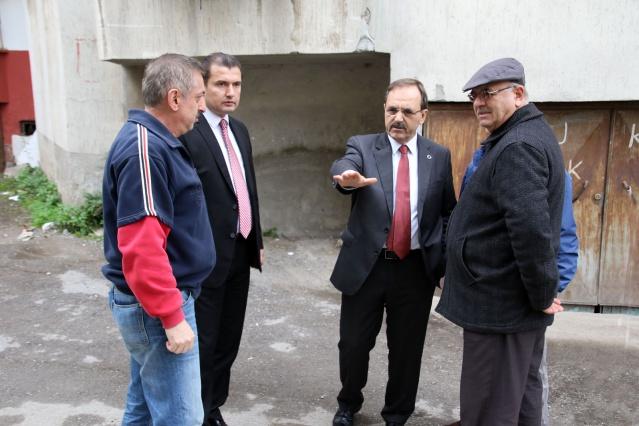 bafra belediyesi asfaslt çalışması