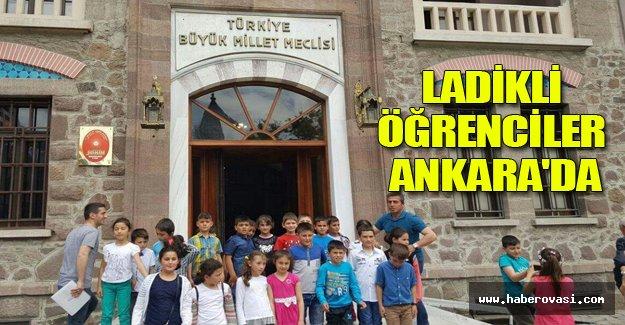 Ladikli öğrenciler Ankara'da