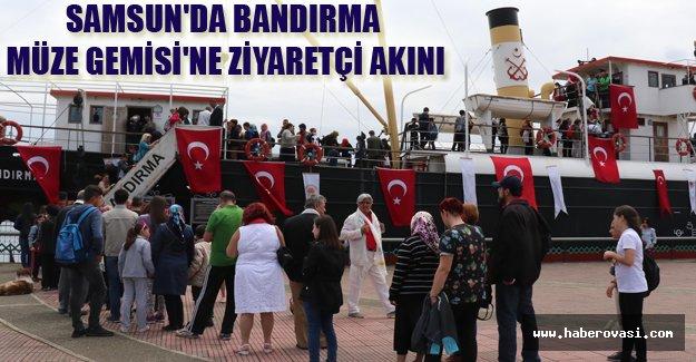 Samsun'da Bandırma Müze Gemisi'ne ziyaretçi akını