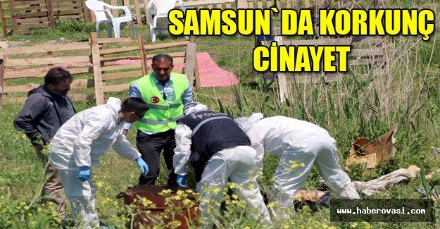 Samsun'da bıçakla öldürülüp, yakılmış erkek cesedi bulundu