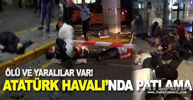 Atatürk Havalimanında patlama çok sayıda ölü ve yaralı var!