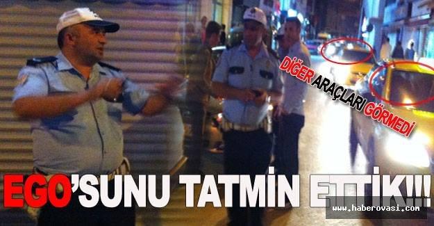 Bafra'daki Trafik Polis Memurunun egosunu tatmin ettik!!!