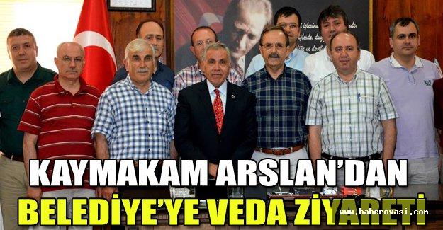 KAYMAKAM ARSLAN'DAN BELEDİYE'YE VEDA ZİYARETİ