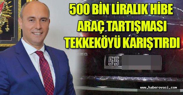 Samsun Tekkeköy'de, belediyeye 500 bin liralık hibe cip tartışması