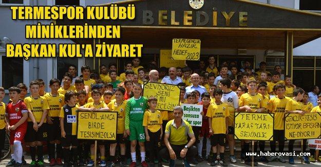 Termespor Kulübü miniklerinden Başkan Kul'a ziyaret