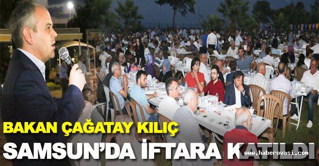 Bakan Kılıç Samsun'da iftar açtı