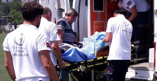 İnşaatın ikinci katından düşen işçi yaralandı