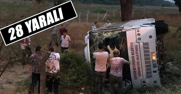 Samsun Halk Otobüsü Tır İle Çarpıştı