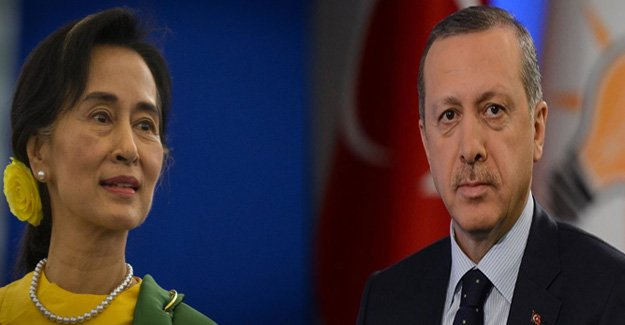Erdoğan, Myanmar lideri ile görüştü