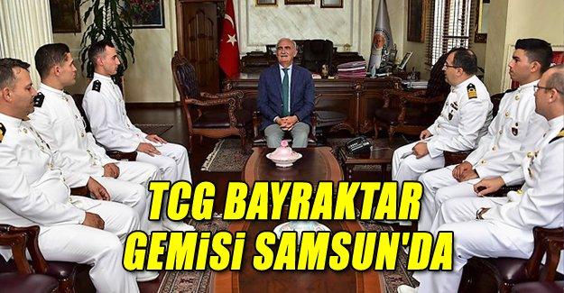 TCG Bayraktar gemi̇si̇ Samsun'da