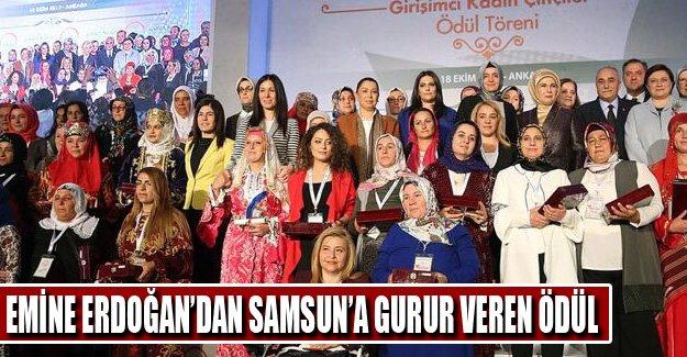 Emine Erdoğan'dan Samsun'a Ödül