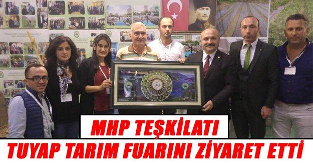 MHP`li Heyet TUYAP Fuarını Ziyaret etti