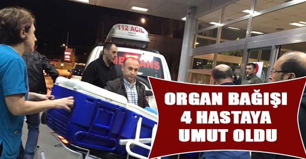 Organları 4 hastaya umut oldu