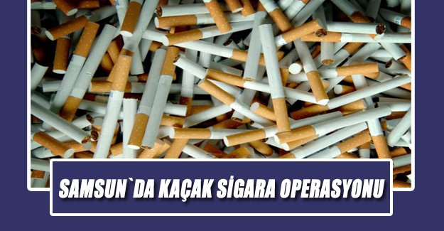 Samsun`da Kaçak Sigara Operasyonu