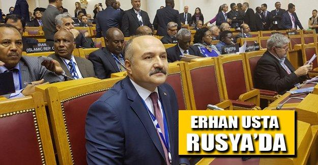Usta, Rusya'da çeşitli temaslarda bulundu.