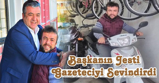 Başkanın Jesti Gazeteciyi Sevindirdi