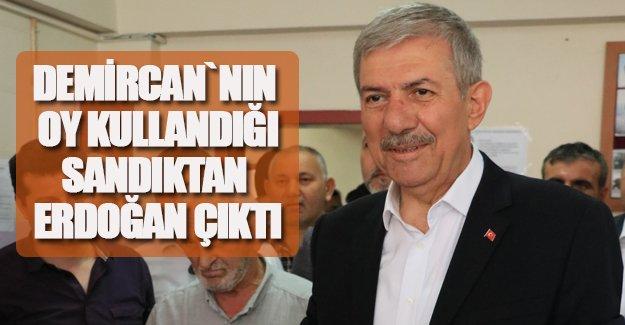 """Demircan'ın oy kullandığı sandıktan """"Erdoğan"""" çıktı"""