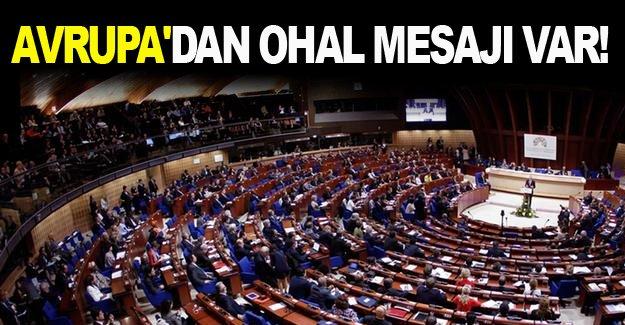 Avrupa'dan OHAL mesajı var!