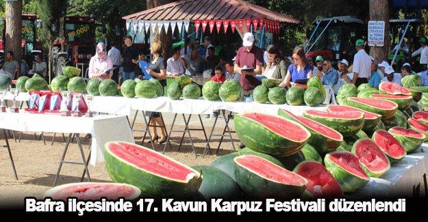 Bafra ilçesinde 17. Kavun Karpuz Festivali düzenlendi