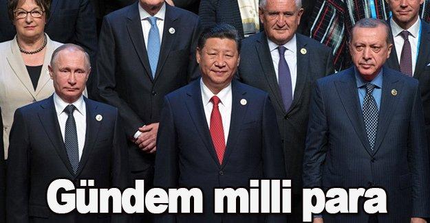 Başkan Erdoğan zirvede! Gündem milli para