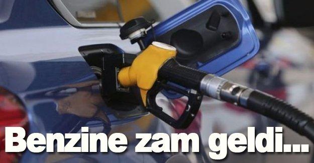 Benzine zam geldi...