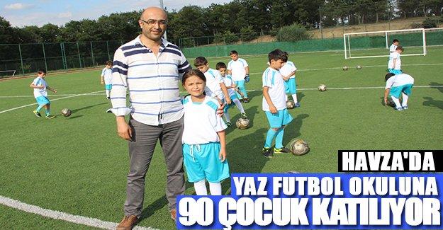 Havza'da yaz futbol okuluna 90 çocuk katılıyor