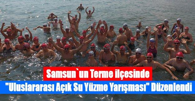 """Samsun'da """"Uluslararası Açık Su Yüzme Yarışması"""" düzenlendi"""