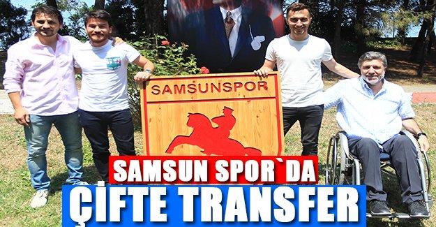 Samsun Spor`da Çifte Transfer