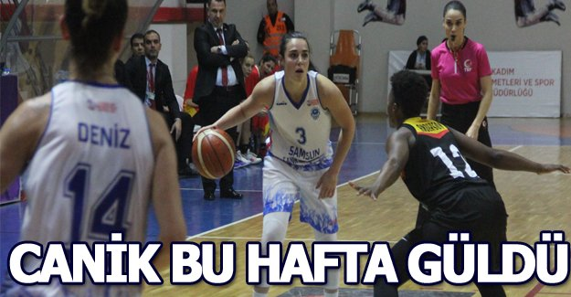 Canik Kadınlar Basketbol takımı farklı yendi