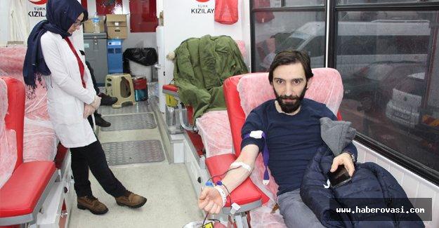 Havza'da kan bağışı