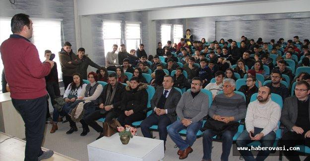 Öğrencilere seminer verildi