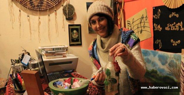 Bafra'da atık malzemelerle süsleme