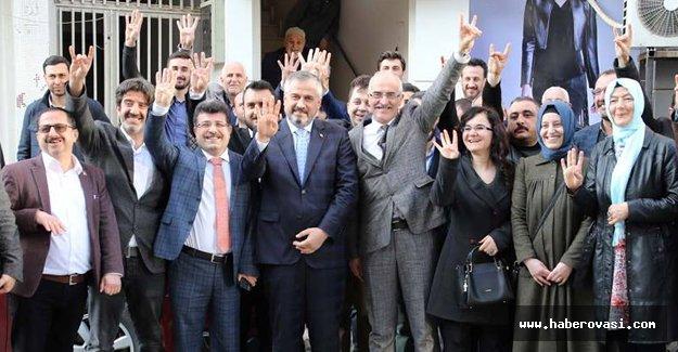 BAFRA MHP'DEN AK PARTİ'YE ZİYARET