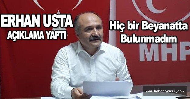 Erhan Usta kendini savundu