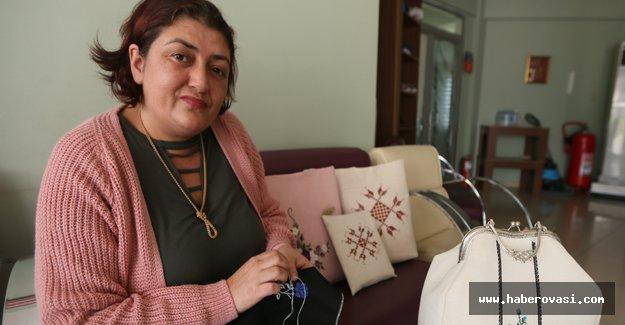 Kanserle mücadeleyi nakışla yendi