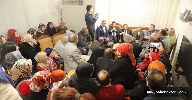 Mustafa Demir'den ev ziyaretleri