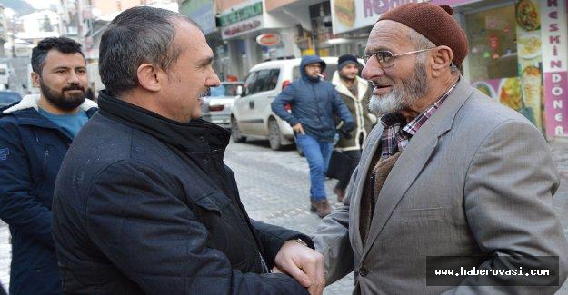 Orhan Kırcalı, Havza'da ziyaretlerde bulundu
