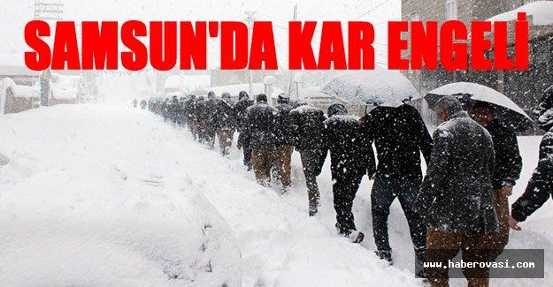 Samsun'da Kar'dan okullar kapandı