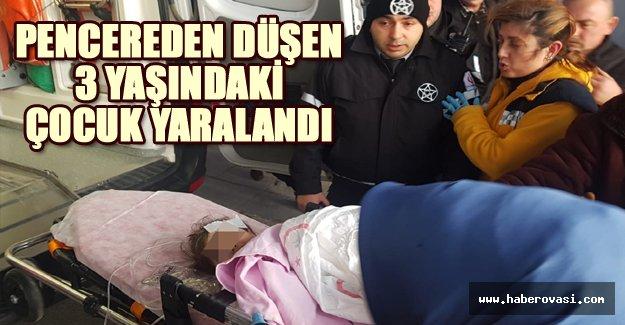 Samsun'da yaşındaki çocuk pencereden düştü