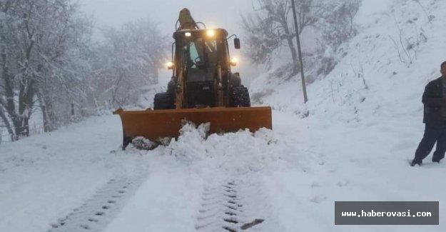 Samsun'da yoğun Kar eğitimi durdurdu