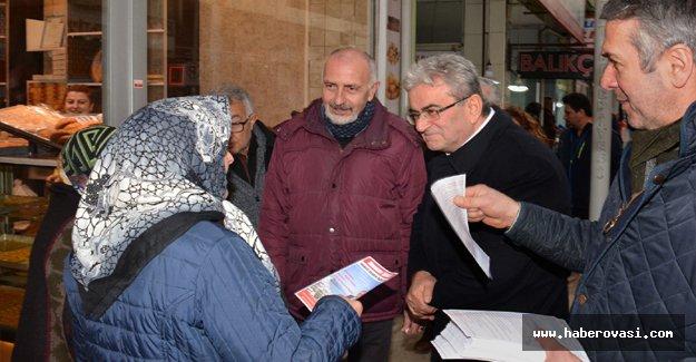 Yakakent'de CHP'li Şensoy'a Destek Ziyareti