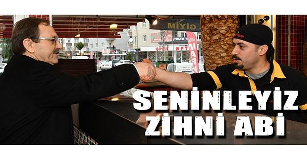 Başkan Zihni Şahin, Atakum'da gün boyu esnafla