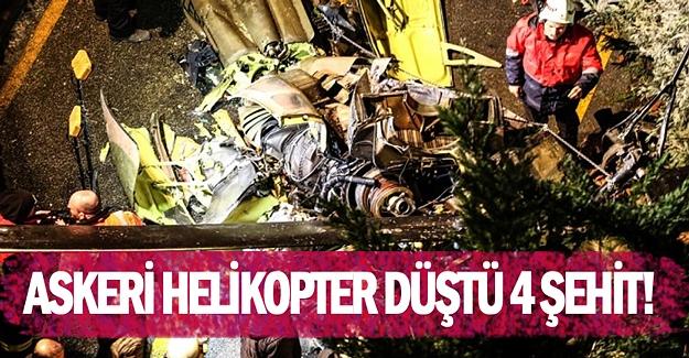 İstanbul'da askeri helikopter düştü: 4 Şehit